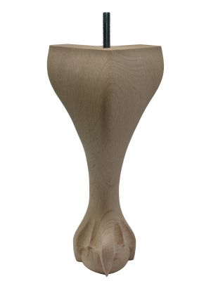 Claw and Ball Queen Anne Furniture Legs Extra Tall with Dowel