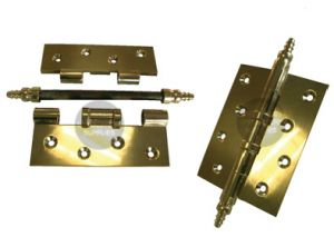 Brass Hinge with Finials