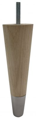 Carin Solid Oak Furniture Legs with Satin Slipper Cups