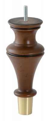 Dior Antique Brown Furniture Leg With Brushed Brass Cup